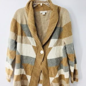 🦋Wool blend one button cardigan sweater